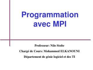 Programmation avec MPI