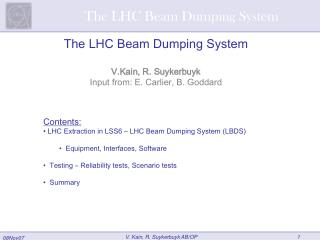 The LHC Beam Dumping System