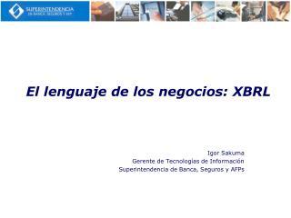 El lenguaje de los negocios: XBRL