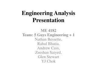 Engineering Analysis Presentation