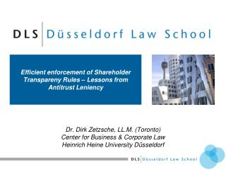 Efficient enforcement of Shareholder Transpareny Rules – Lessons from Antitrust Leniency