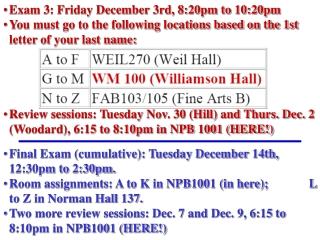Monday November 29th