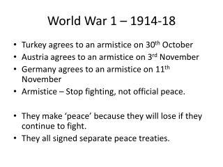 World War 1 – 1914-18
