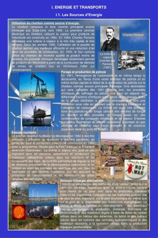 Utilisation du charbon comme source d'énergie.