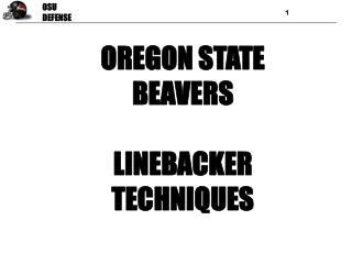 OREGON STATE BEAVERS LINEBACKER TECHNIQUES
