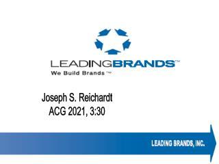 Joseph S. Reichardt ACG 2021, 3:30