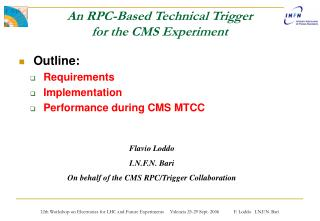 An RPC-Based Technical Trigger for the CMS Experiment