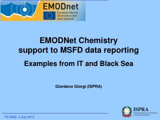 EMODNet Chemistry  support to MSFD data reporting Examples from IT and Black Sea