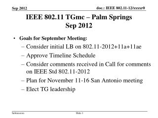 IEEE 802.11 TGmc – Palm Springs Sep 2012