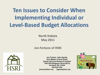 Ten Issues to Consider When Implementing Individual or Level-Based Budget Allocations