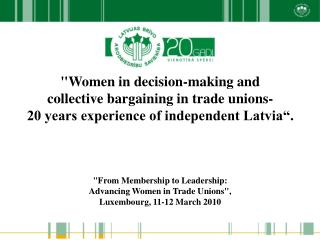 """Women in decision-making and  collective bargaining in trade unions-"