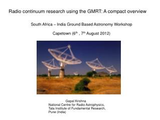 Radio continuum research using the GMRT: A compact overview