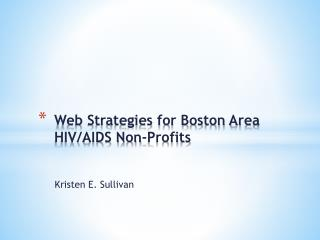 Web Strategies for Boston Area HIV/AIDS Non-Profits
