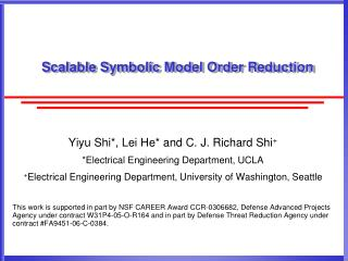 Scalable Symbolic Model Order Reduction