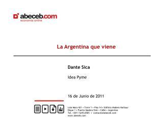 La Argentina que viene