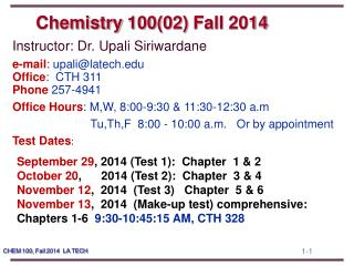 Chemistry  100(02)  Fall  2014