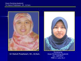 Dosen Pembing Akademik Sri Hastuti Puspitasari, SH., M.Hum.
