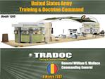 TRADOC Perspectives as The Architect of The Army