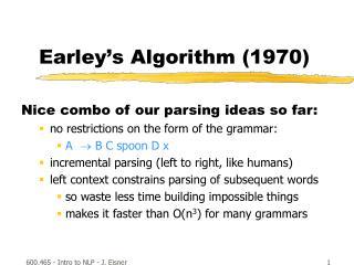 Earley s Algorithm 1970