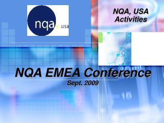 NQA EMEA Conference Sept. 2009