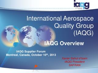 International Aerospace Quality Group (IAQG)