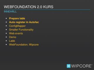 WebFoundation  2.0 Kurs
