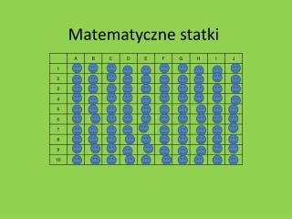 Matematyczne statki
