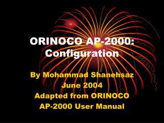 ORINOCO AP-2000:  Configuration
