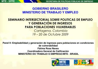 Panel II: Empleabilidad y generaci n de ingresos para poblaciones en condiciones de vulnerabilidad F tima Rosa Naves  Co