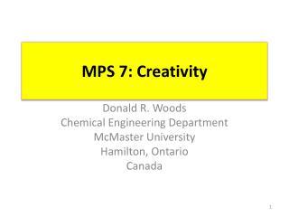 MPS 7: Creativity