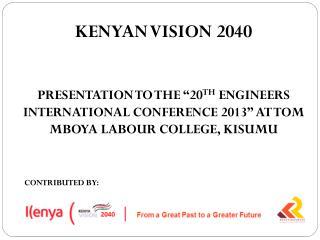 KENYAN VISION 2040