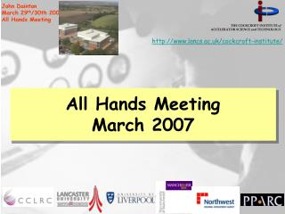 All Hands Meeting March 2007