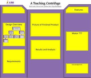 A Teaching Centrifuge Brett  Ledet , Steven Lowe, Joshua  Lala , Diego Rodriguez