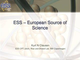 ESS – European Source of Science