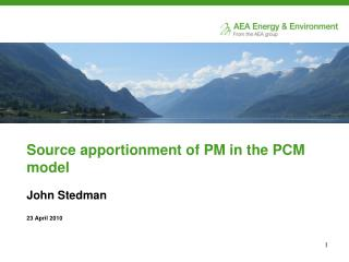 Source apportionment of PM in the PCM model