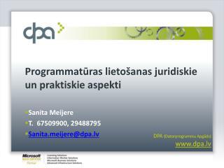 Programmatūras lietošanas juridiskie un praktiskie aspekti