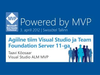 Agiilne tiim Visual  Studio ja Team Foundation Server 11-ga