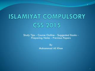 ISLAMIYAT COMPULSORY CSS 2015