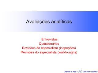 Avaliações analíticas