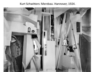 Kurt  Schwitters :  Merzbau . Hannover, 1924.