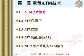 第一章 宽带 ATM 技术
