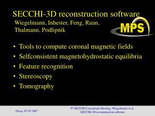 SECCHI-3D reconstruction software