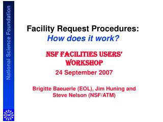 Facility Request Procedures: How does it work?