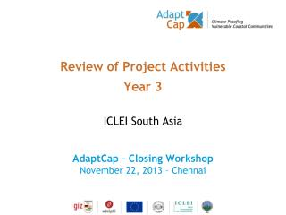 Review of Project Activities Year 3