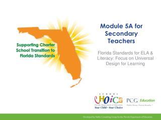 Module 5A for Secondary Teachers