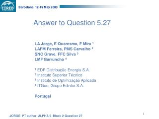 Answer to Question 5.27