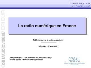 La radio numérique en France