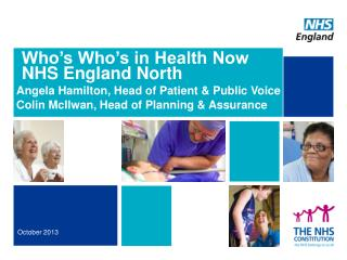Who's Who's in Health Now NHS England North