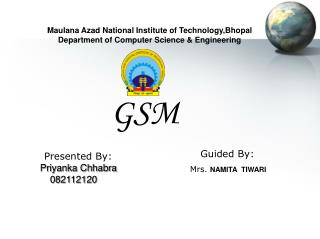 Maulana Azad National Institute of Technology,Bhopal Department of Computer Science & Engineering