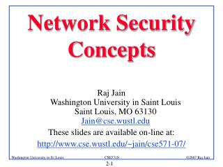 Network Security  Concepts